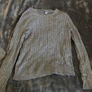 Hillard and Hanson grey knitted sweater